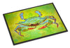 Bright Green Blue Crab  Indoor or Outdoor Mat 18x27 - the-store.com