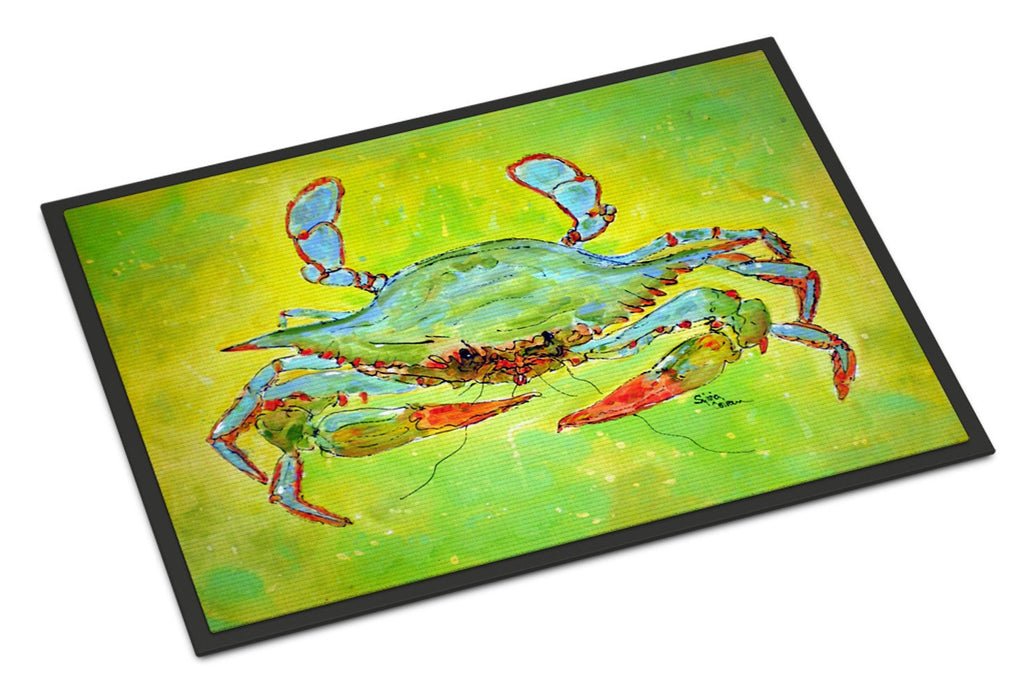 Buy this Bright Green Blue Crab  Indoor or Outdoor Mat 18x27