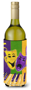 Buy this Mardi Gras Piano with Comedy and Tragedy Masks Wine Bottle Beverage Insulator Beverage Insulator Hugger
