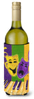 Mardi Gras Piano with Comedy and Tragedy Masks Wine Bottle Beverage Insulator Beverage Insulator Hugger by Caroline's Treasures