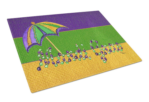 Buy this Mardi Gras Beads with Umbrella Glass Cutting Board