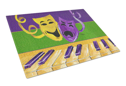 Buy this Mardi Gras Key Board with Comedy and Tragedy Glass Cutting Board