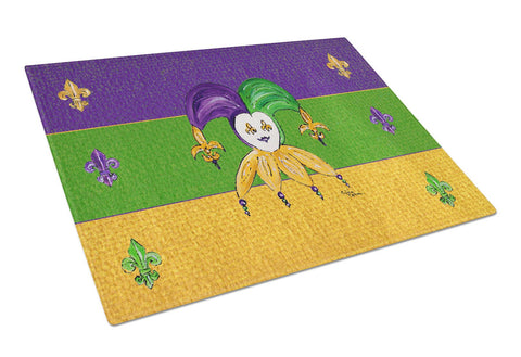 Buy this Mardi Gras Jester Glass Cutting Board