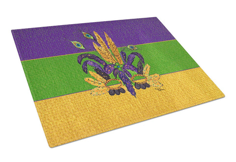 Buy this Mardi Gras Feather Mask Glass Cutting Board