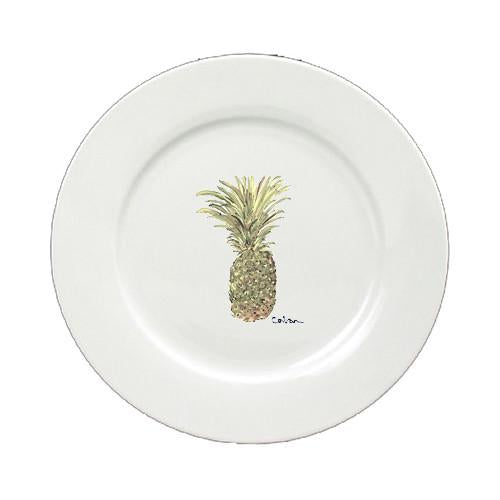 Buy this Pineapple Round Ceramic White Salad Plate 8654-DPW