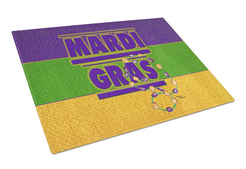Buy this Mardi Gras Glass Cutting Board