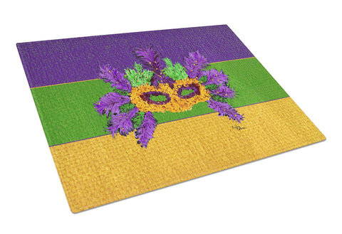 Buy this Mardi Gras Mask Glass Cutting Board