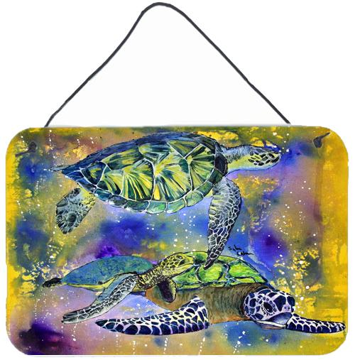Turtle Aluminium Metal Wall or Door Hanging Prints by Caroline's Treasures