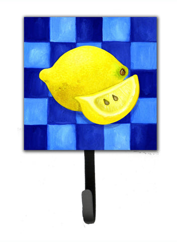 Buy this Lemon in Blue by Ute Nuhn Leash or Key Holder WHW0116SH4