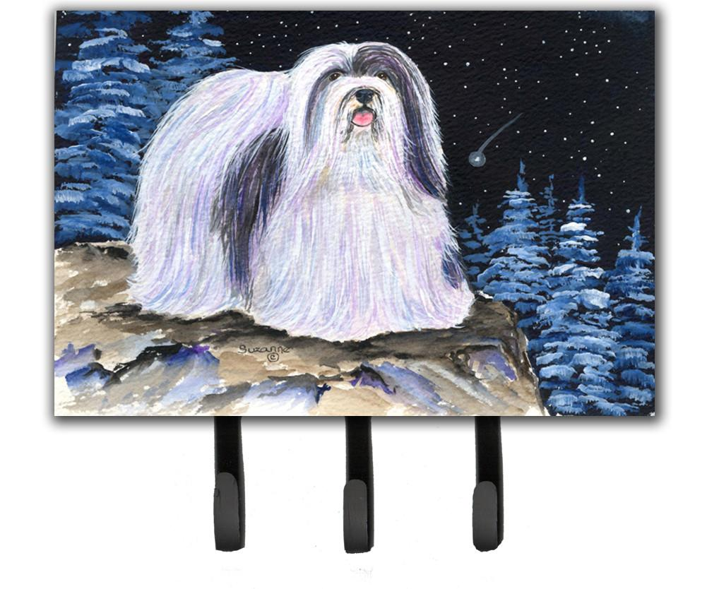 Starry Night Havanese Leash Holder or Key Hook by Caroline's Treasures