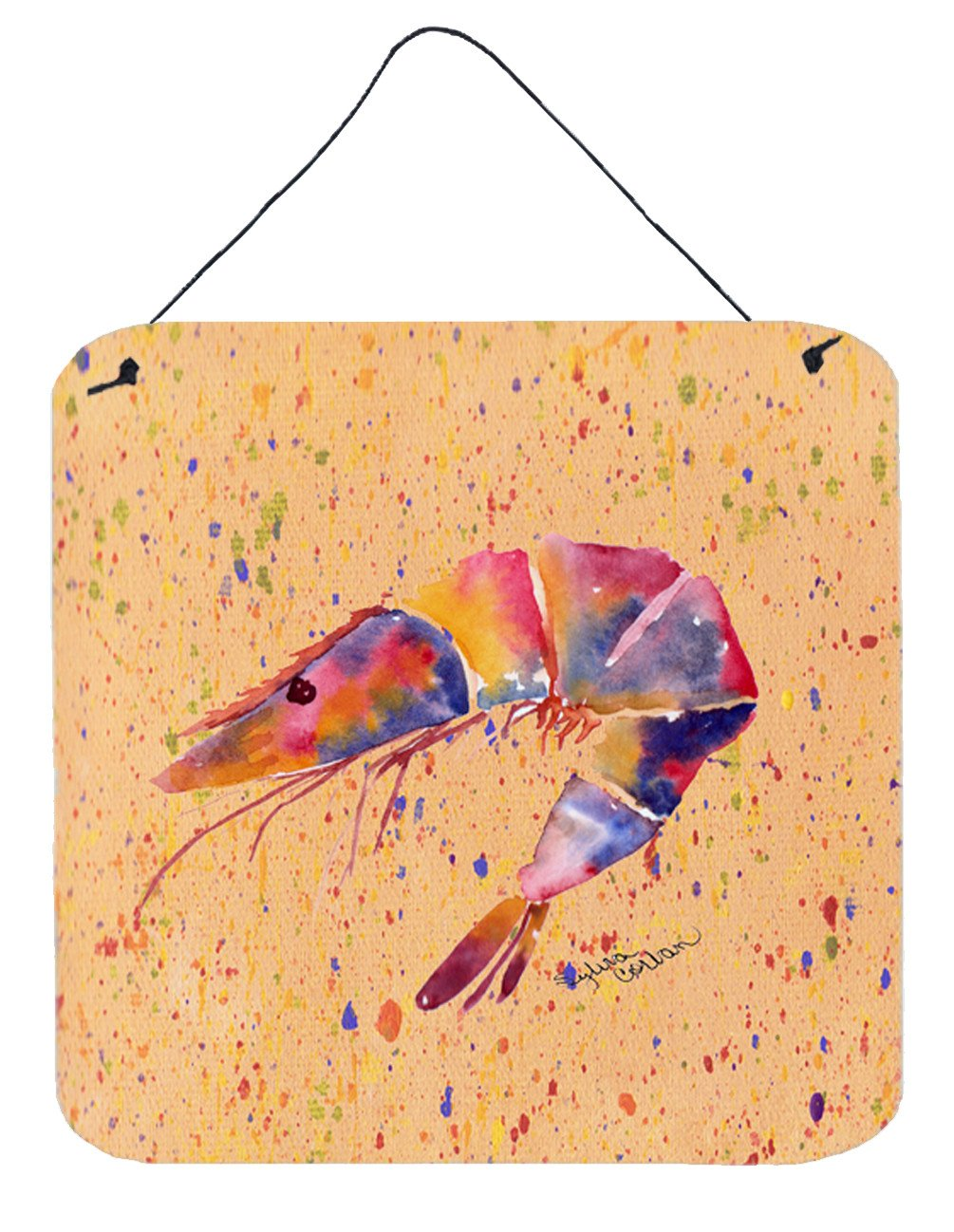 Shrimp Aluminium Metal Wall or Door Hanging Prints by Caroline's Treasures