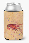 Crawfish on Coral Can or Bottle Beverage Insulator Hugger by Caroline's Treasures