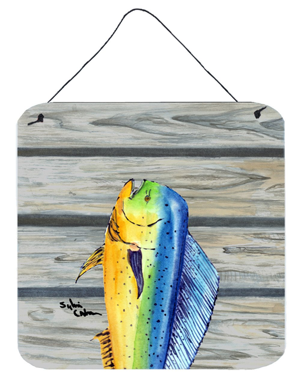 Buy this Dolphin Mahi Mahi Aluminium Metal Wall or Door Hanging Prints