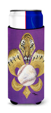 Tiger Fleur de lis Baseball Ultra Beverage Insulators for slim cans 8476MUK by Caroline's Treasures