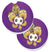 Tiger Fleur de lis Soccer Set of 2 Cup Holder Car Coasters 8477CARC by Caroline's Treasures