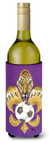Buy this Tiger Fleur de lis Soccer Wine Bottle Beverage Insulator Beverage Insulator Hugger