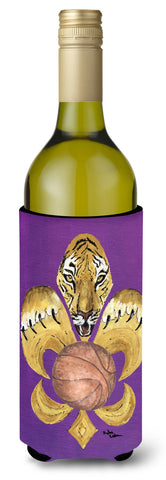 Buy this Tiger Fleur de lis Basketball Wine Bottle Beverage Insulator Beverage Insulator Hugger