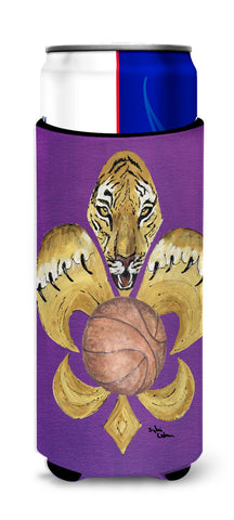 Buy this Tiger Fleur de lis Basketball Ultra Beverage Insulators for slim cans 8478MUK