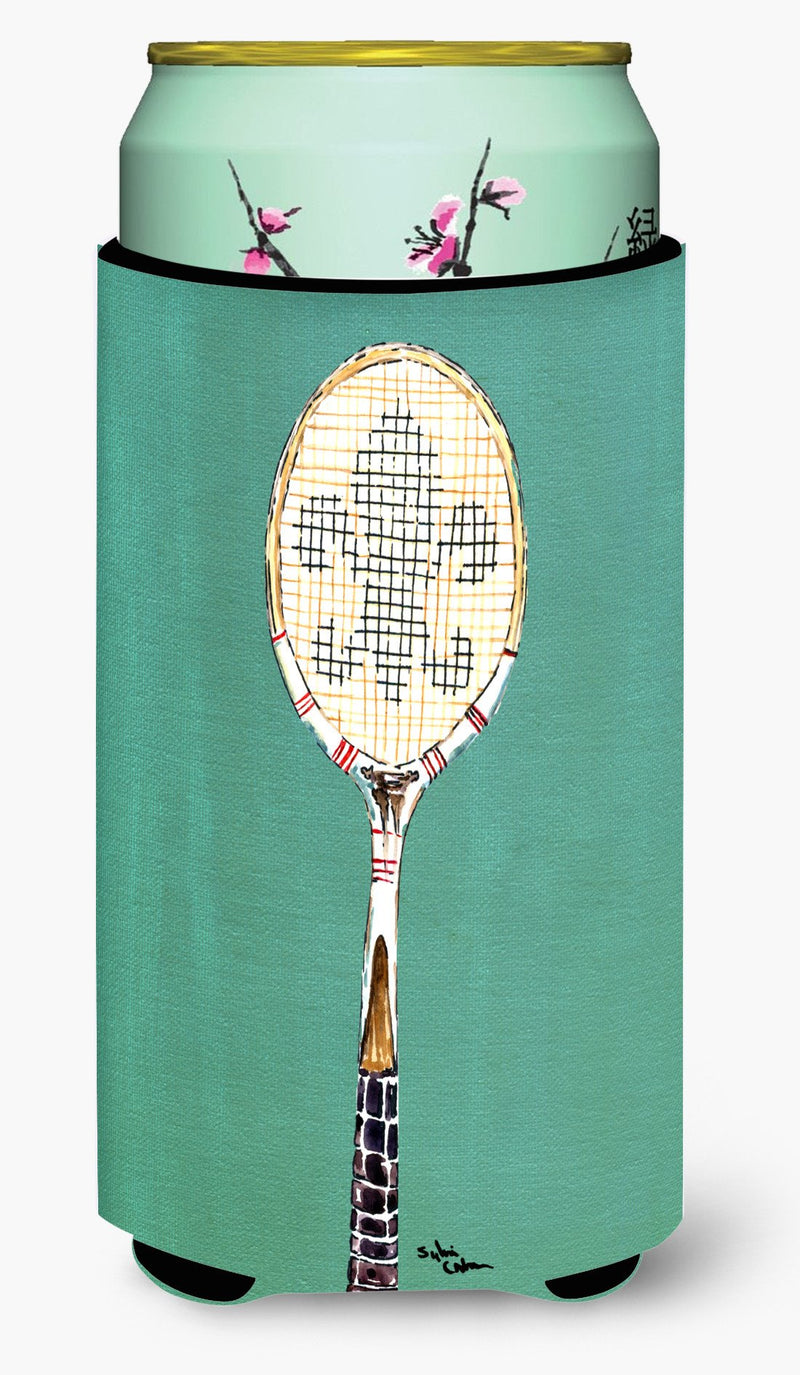 Buy this Tennis Racket Fleur de lis Tall Boy Beverage Insulator Beverage Insulator Hugger