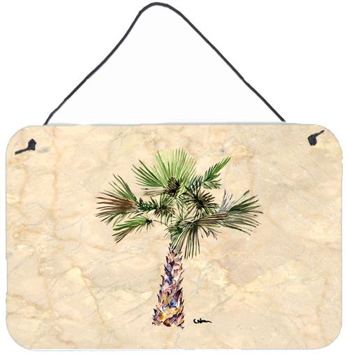 Palm Tree Aluminium Metal Wall or Door Hanging Prints by Caroline's Treasures