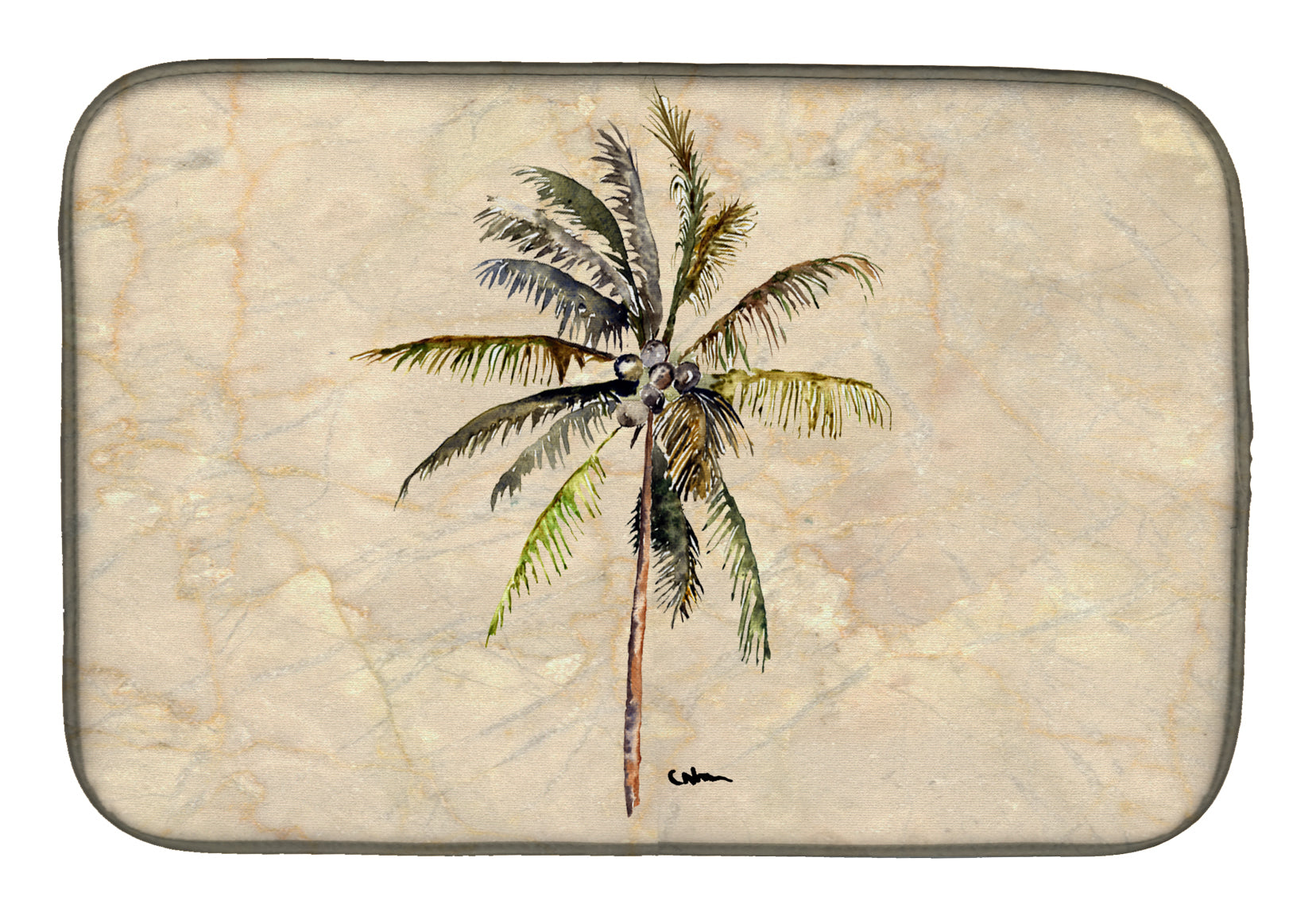 Palm Tree Dish Drying Mat 8482DDM by Caroline's Treasures