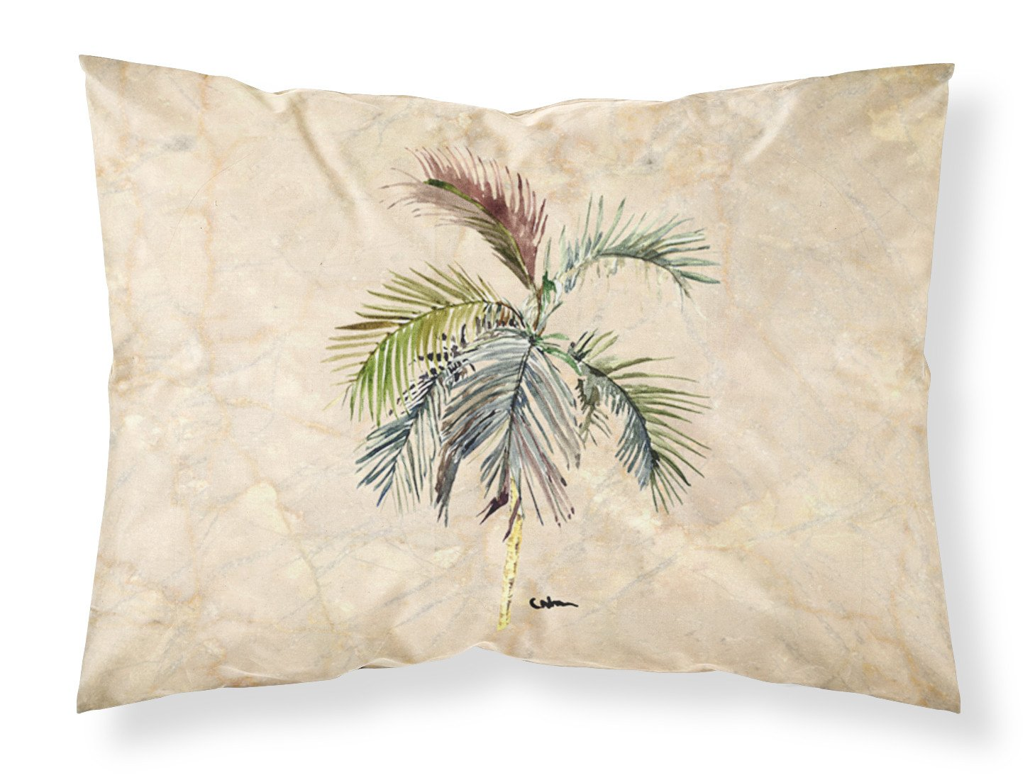 Palm Tree Moisture wicking Fabric standard pillowcase by Caroline's Treasures