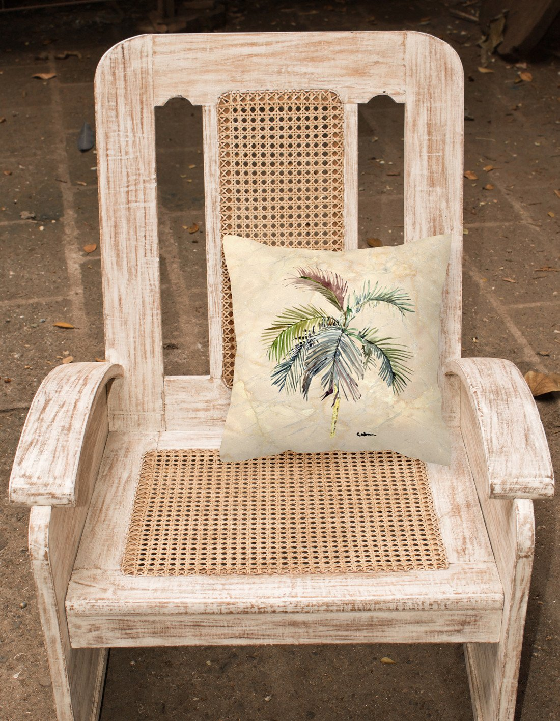 Tree - Palm Tree Decorative   Canvas Fabric Pillow - the-store.com