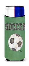 Soccer Ultra Beverage Insulators for slim cans 8484MUK by Caroline's Treasures