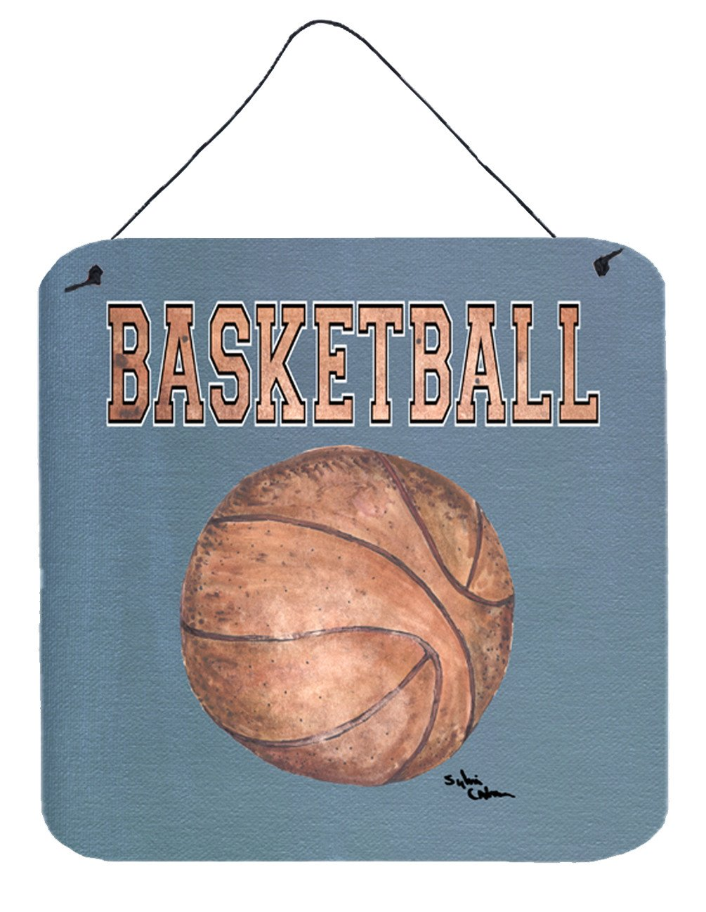 Basketball Aluminium Metal Wall or Door Hanging Prints by Caroline's Treasures