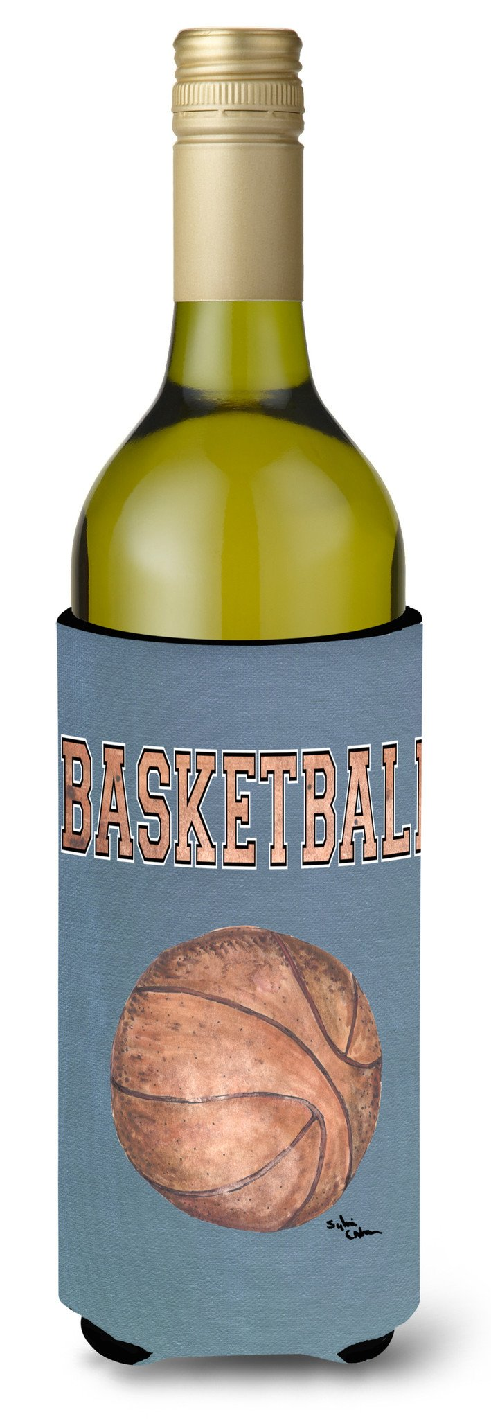 Basketball Wine Bottle Beverage Insulator Beverage Insulator Hugger by Caroline's Treasures