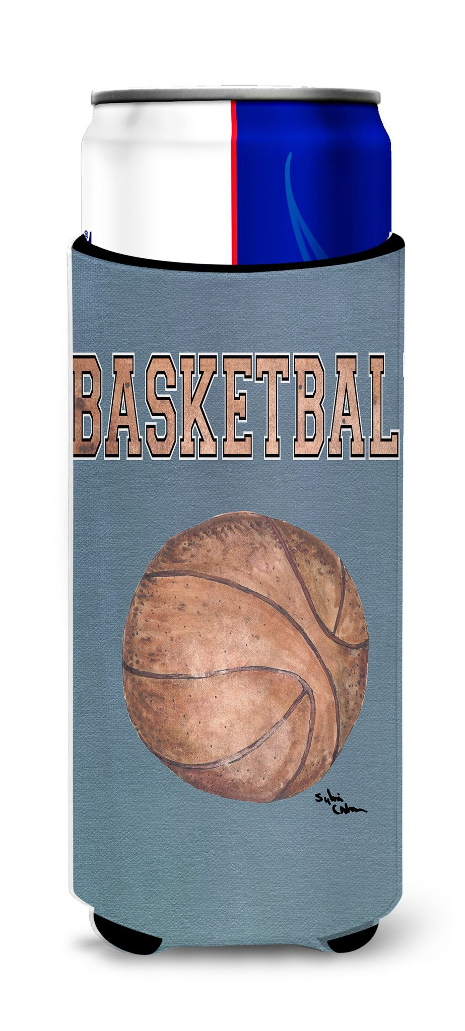 Basketball Ultra Beverage Insulators for slim cans 8486MUK by Caroline's Treasures