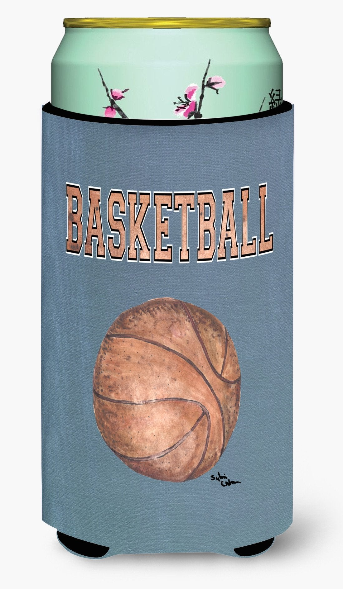 Basketball  Tall Boy Beverage Insulator Beverage Insulator Hugger by Caroline's Treasures