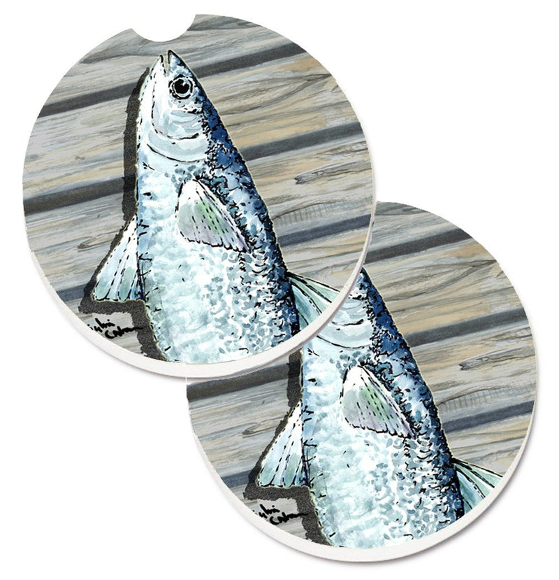 Fish Mullet Set of 2 Cup Holder Car Coasters 8490CARC by Caroline's Treasures