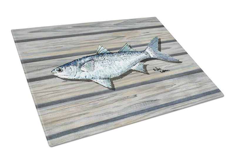 Fish Mullet Glass Cutting Board Large by Caroline's Treasures