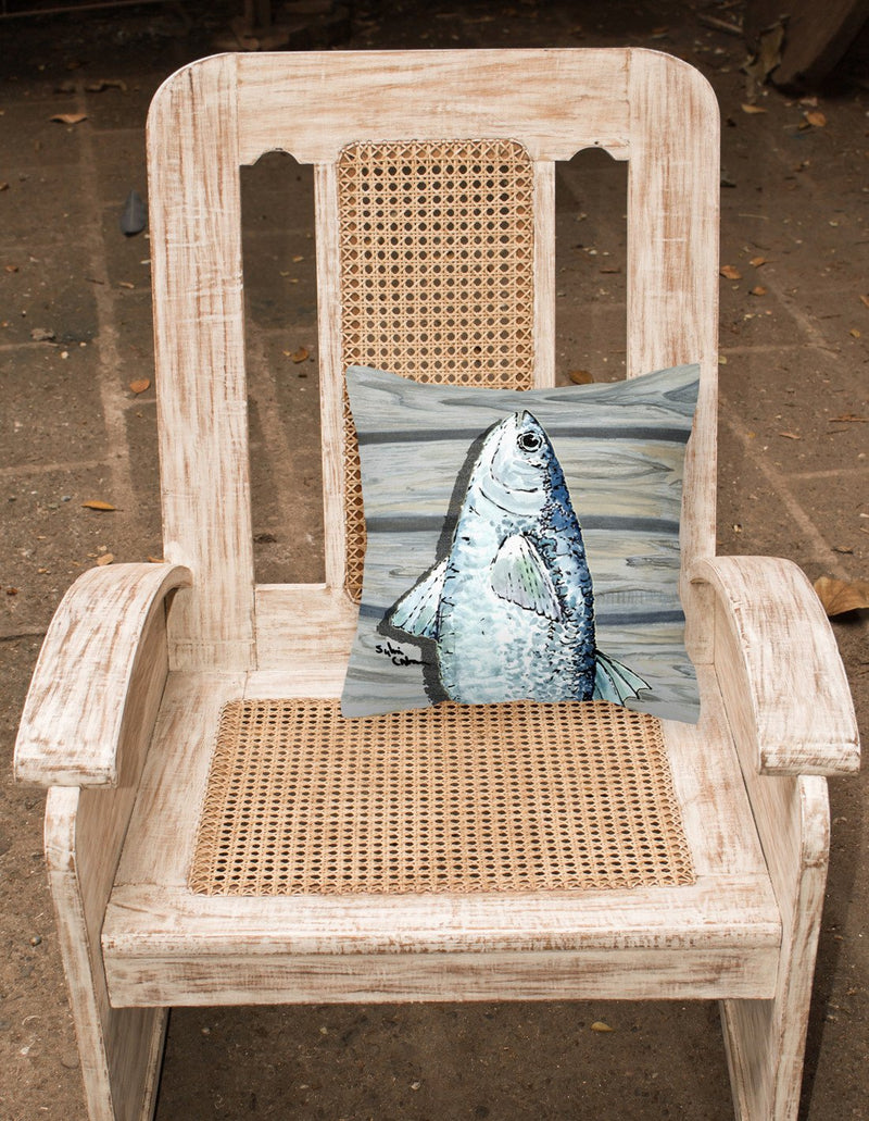 Fish Mullet Fabric Decorative Pillow 8490PW1414 by Caroline's Treasures