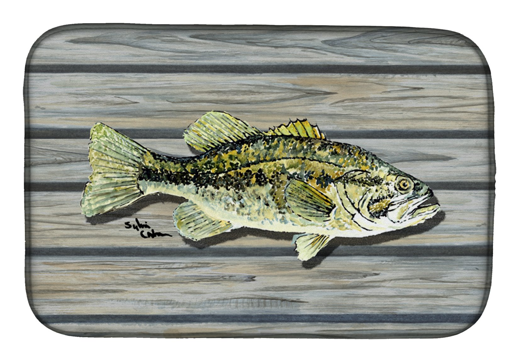 Fish Bass Small Mouth Dish Drying Mat 8493DDM by Caroline's Treasures