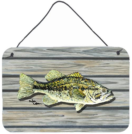 Fish Bass Small Mouth Aluminium Metal Wall or Door Hanging Prints by Caroline's Treasures