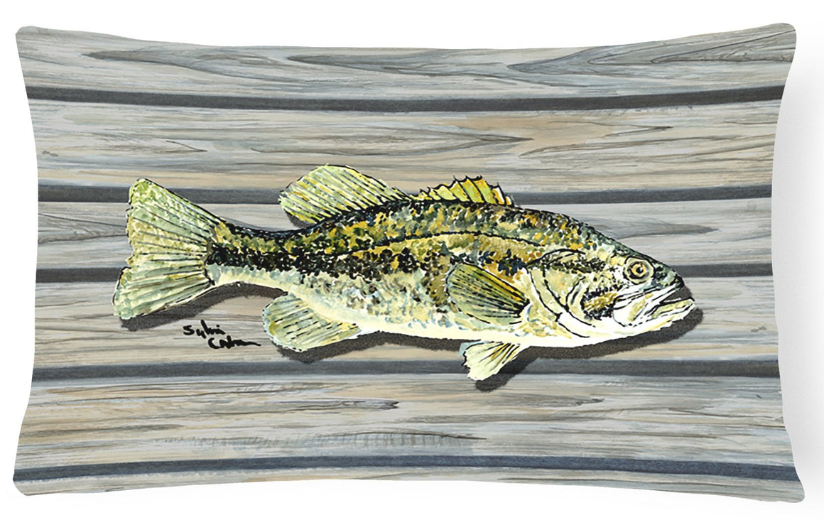 Buy this Fish Bass Small Mouth   Canvas Fabric Decorative Pillow