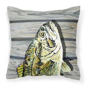 Buy this Fish Bass Small Mouth Fabric Decorative Pillow 8493PW1414