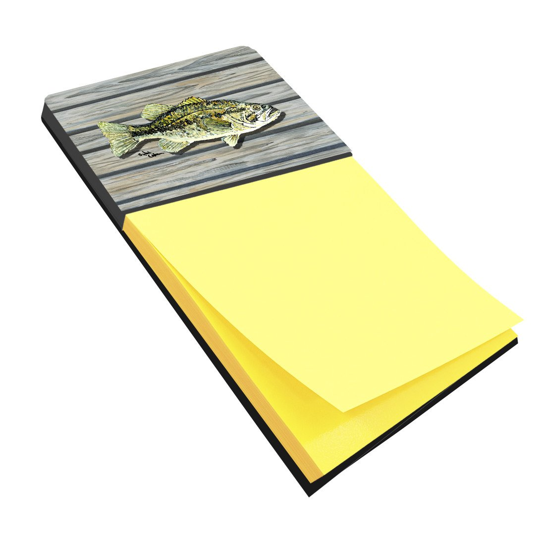 Buy this Fish Bass Small Mouth Refiillable Sticky Note Holder or Postit Note Dispenser 8493SN