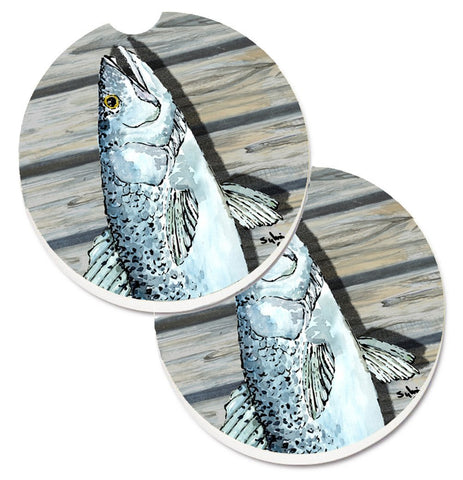 Buy this Fish Speckled Trout Set of 2 Cup Holder Car Coasters 8494CARC