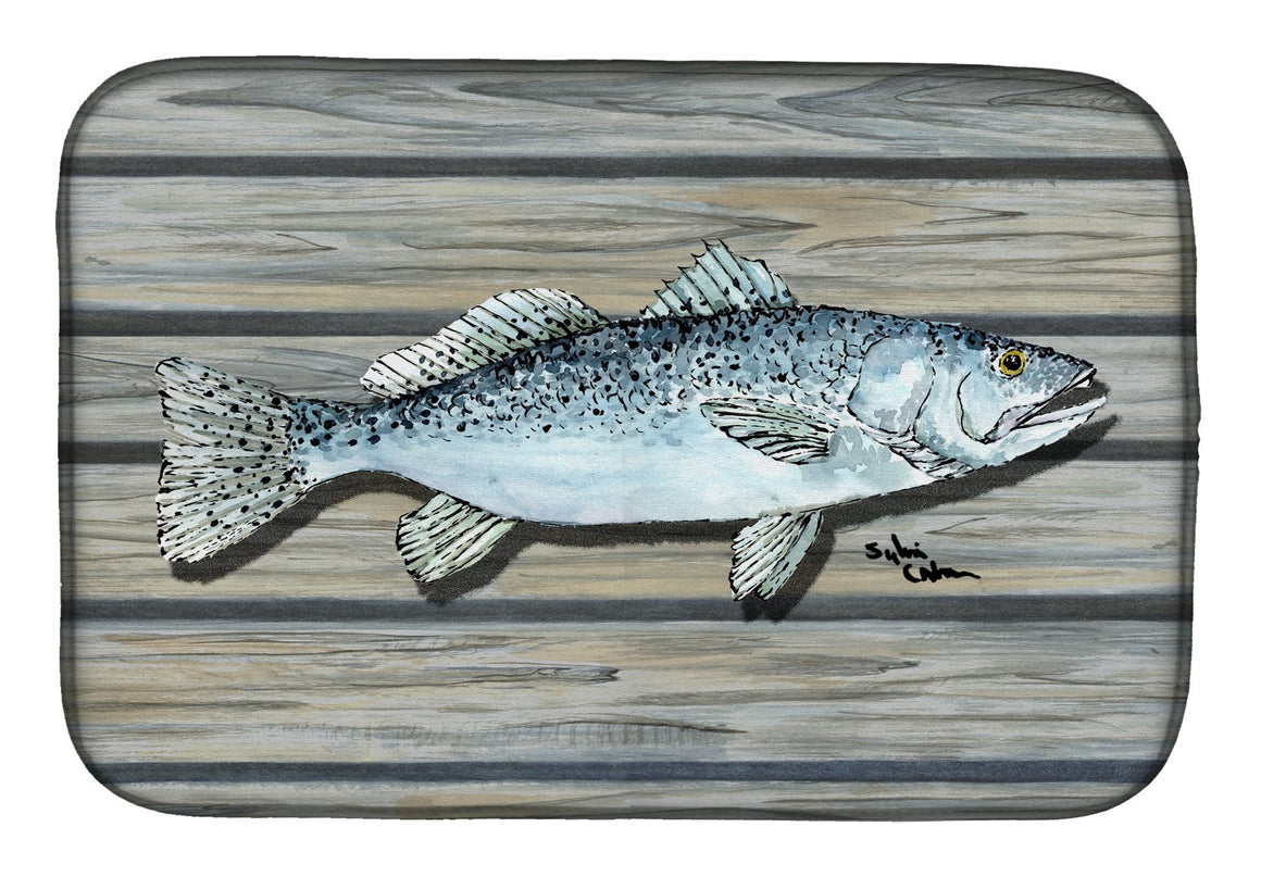Buy this Fish Speckled Trout Dish Drying Mat 8494DDM