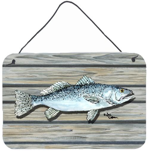 Buy this Fish Speckled Trout Aluminium Metal Wall or Door Hanging Prints