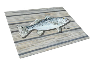 Buy this Speckled Trout on the wharf Glass Cutting Board