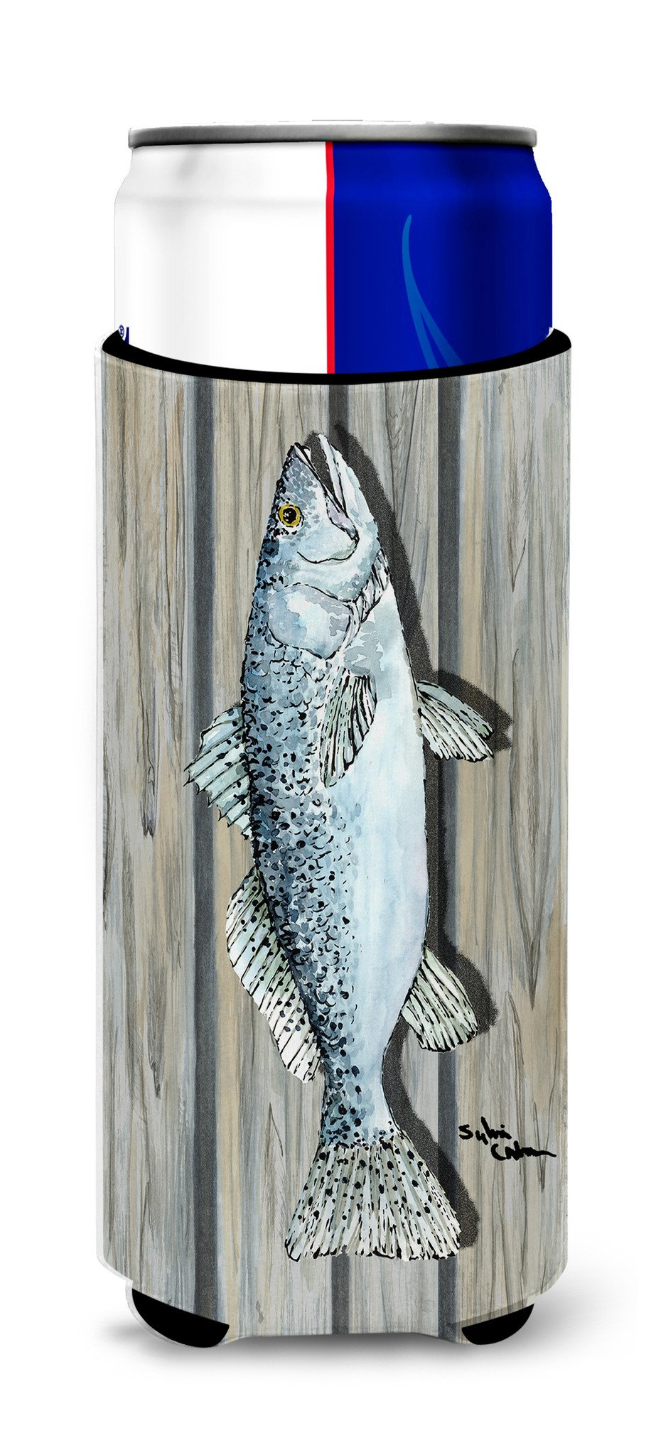 Fish Speckled Trout Ultra Beverage Insulators for slim cans 8494MUK by Caroline's Treasures