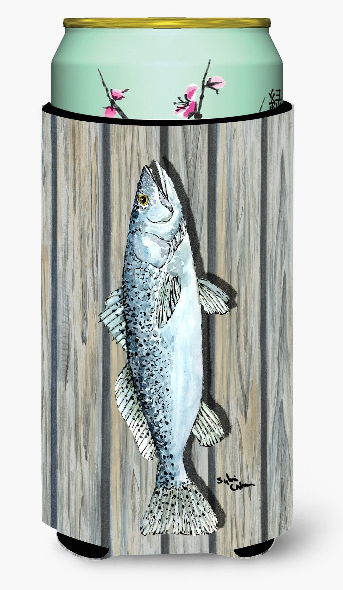 Fish Speckled Trout  Tall Boy Beverage Insulator Beverage Insulator Hugger by Caroline's Treasures