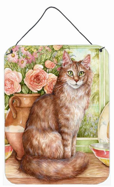 Maine Coon Cat by Debbie Cook Wall or Door Hanging Prints CDCO0236DS1216 by Caroline's Treasures