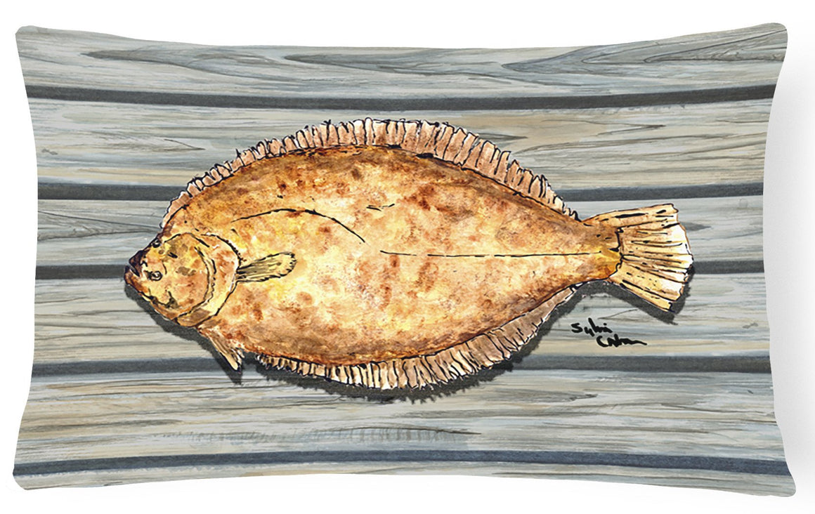 Buy this Fish Flounder   Canvas Fabric Decorative Pillow