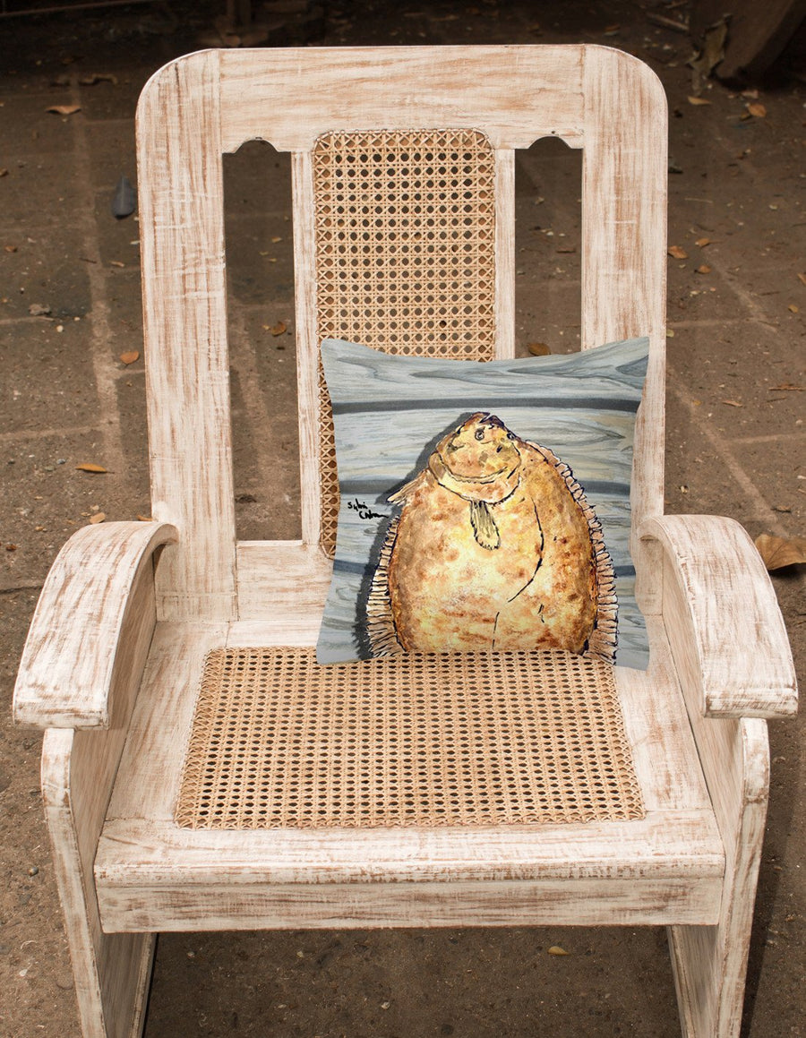 Buy this Fish Flounder Fabric Decorative Pillow 8495PW1414