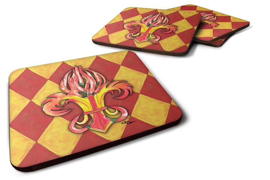 Buy this Set of 4 Hot Peppers Foam Coasters
